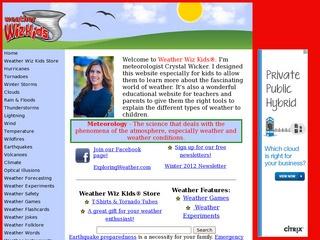 Weather Wiz Kids | Great Websites for Kids