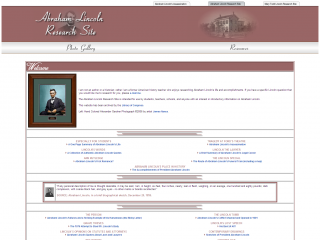 Abraham Lincoln Research Site screen shot