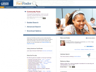 screen shot - American Fact Finder