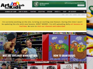 Screen shot: Art for Kids Hub