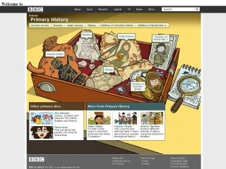 BBC Primary History screen shot
