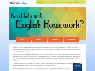 screen shot - BJ Pinchbeck's Homework Helper