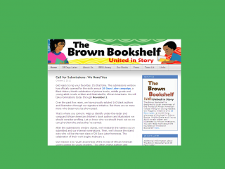 The Brown Bookshelf website screen shot