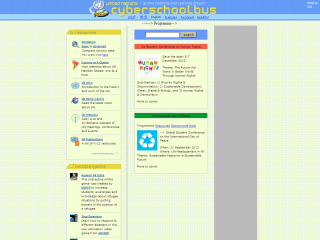 Screen shot: Cyber School Bus homepage