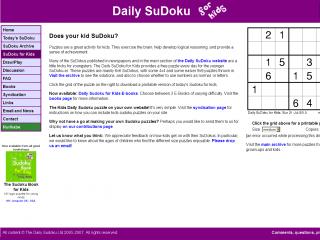 Daily Sudoku for Kids screen shot