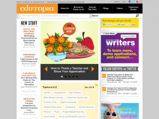 Edutopia screen shot