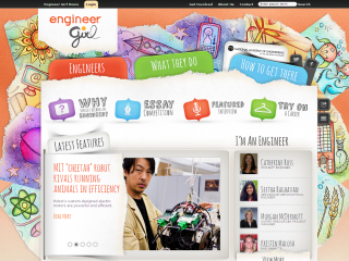 Screen shot - EngineerGirl website