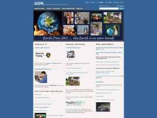 EPA Environmental Kids Club screen shot