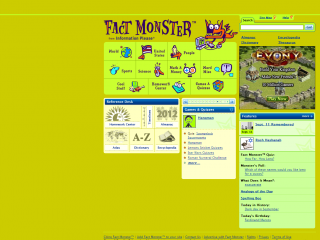 Fact Monster screen shot