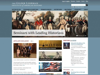 Screen Shot: Gilder Lehrman Institute of American History