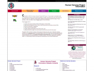 Human Genome Project screenshot