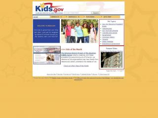 Kids.gov web screen shot