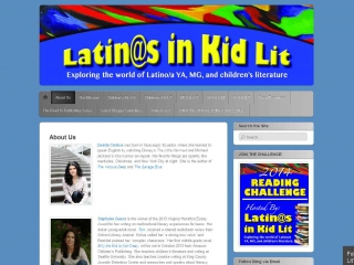 Latinos in Kid Lit - screen shot