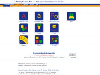 Literacy Center screen shot