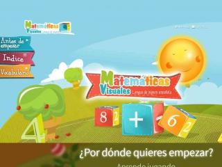Screen shot: Matemáticas Visuales