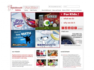 Math Moves U homepage screen shot