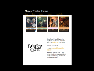 Megan Whalen Turner website screen shot