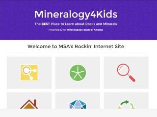 Screen shot: Mineralogy4Kids