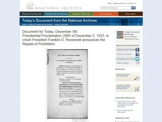 National Archives & Records Administration screen shot