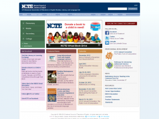 National Council of Teachers of English screen shot