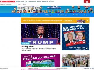 Scholastic Election News - screen shot