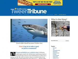 Smithsonian Tween Tribune screen shot