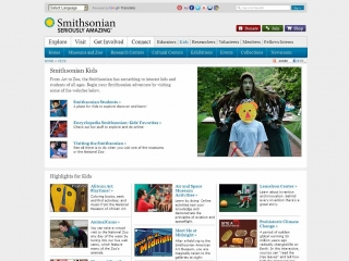 Smithsonian Kids screen shot
