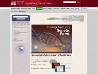Talking Glossary of Genetic Terms screen shot
