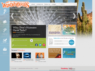 Screen shot - Wonderopolis site