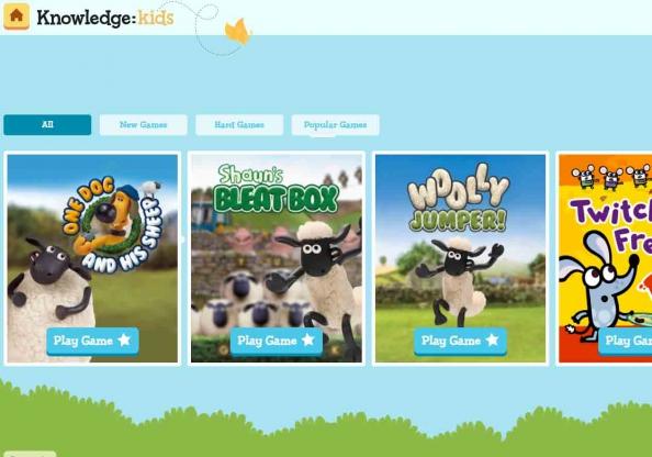 Screen shot: Knowledge Kids