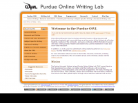 OWL Online Writing Lab screen shot
