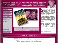 Screenshot of Jim Trelease Home Page