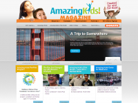 screen shot - Amazing Kids Magazine website