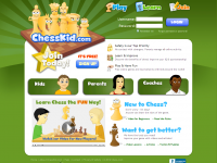 Screen shot of Chess Kids website