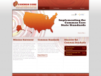Screen Shot - Common Core Standards page