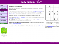 Daily Sudoku for Kids screen shot