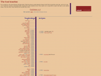 Food Timeline screen shot