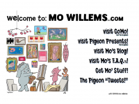 screen shot - Mo Willems website