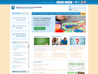 Screen shot - National Center for Learning Disabilities site