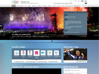 Olympics website screen shot