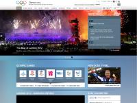 Olympics website screen shot