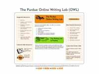 The Purdue Online Writing Lab (OWL) screen shot