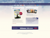 Screen shot of Sharon Creech's website
